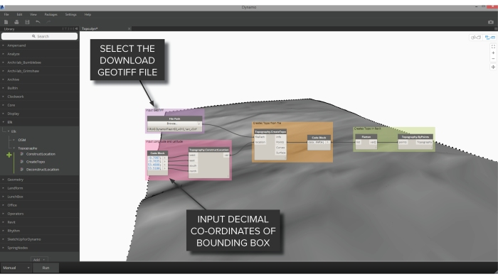 Workflow: SRTM Data to Topography in Revit – Dynamo Nodes